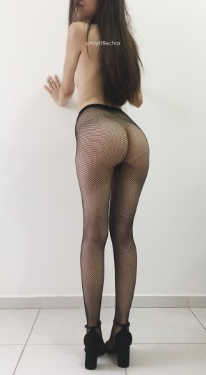 amateur photo Fishnet and high heels :) [oc]