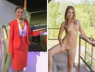 Linda stewardess and Glamour model
