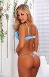 amateur photo Blonde in blue