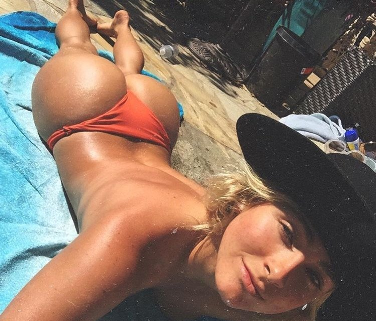 Sun Bathing Those Cheeks Porn Photo