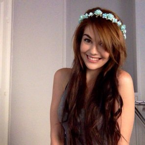 amateur photo Flowers in her hair.