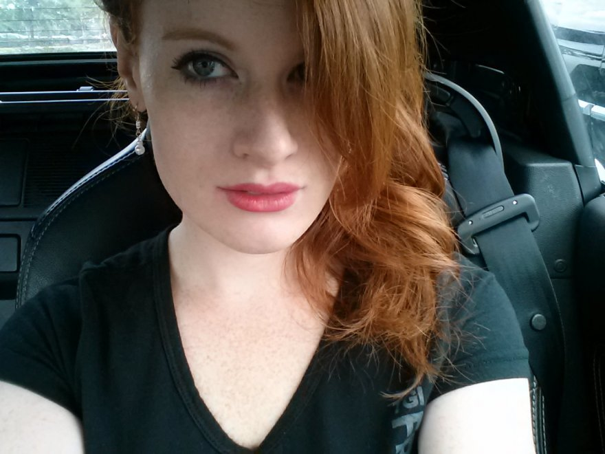 Pink lips, red hair, and pale skin. Porn Photo