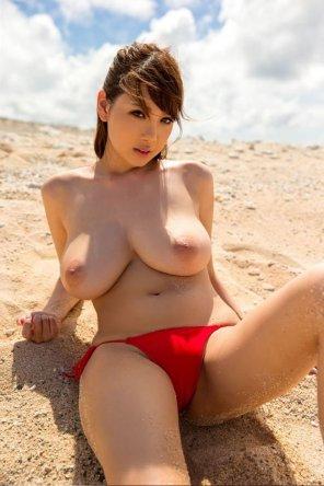 amateur photo Juicy beach habe