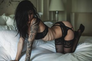 amateur photo Tattoos and Stockings