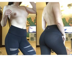 amateur photo showing off my new leggings