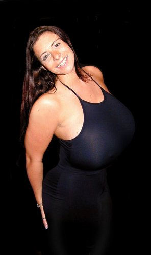 amateur photo Candid of Linsey Dawn McKenzie in a little black dress