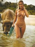 amateur photo with her bull