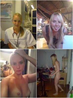 amateur photo Danish Nurse