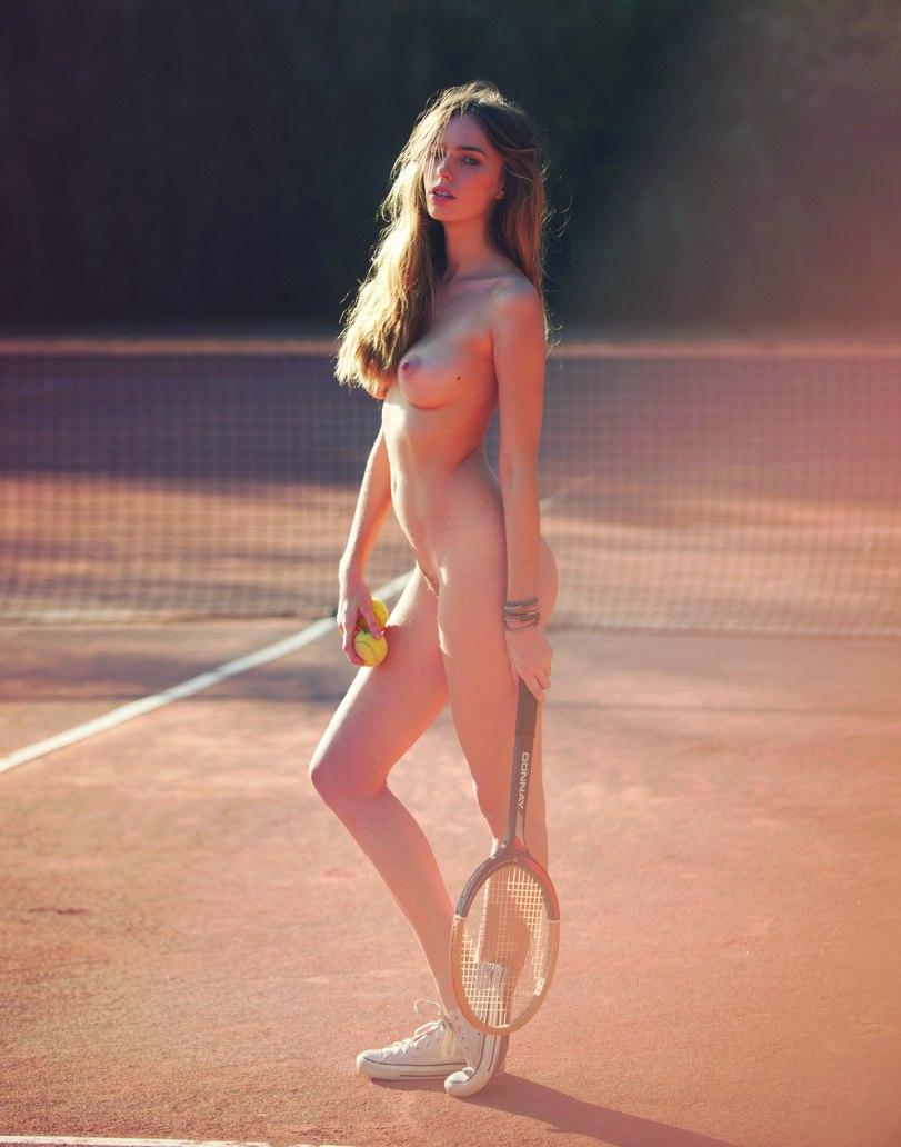 Nude tennis player Seven women