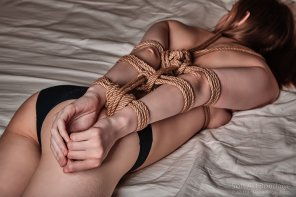 amateur photo Tied rope shibari arms behind