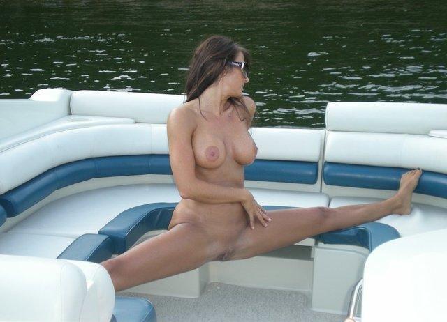 Splits on a boat Porn Photo
