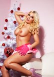amateur photo Britney Amber for Christmas