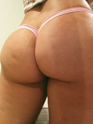 amateur photo Original ContentMy ass swallowing up my micro thong