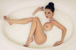 amateur photo Having a bath