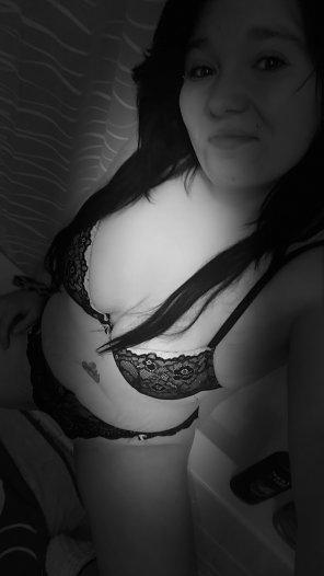 amateur photo C\ est moi en noir et blanc
