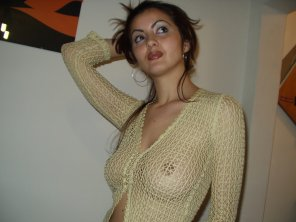 amateur photo nice sheer top