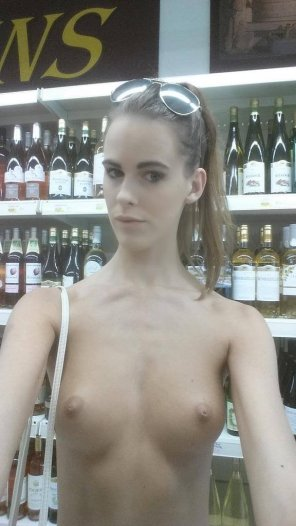 amateur photo In the liquor store