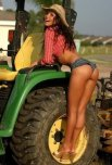 amateur photo short shorts and a tractor