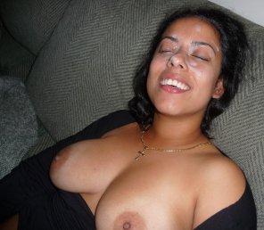 amateur photo Happy with the Cum