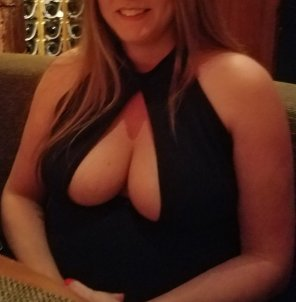 amateur photo Is this too much cleavage to show at dinner?