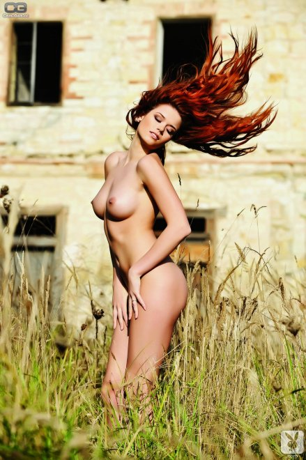 Redhead in the reeds Porn Photo