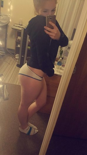 amateur photo Worked hard to get this ass, i think it counts as voluptuous :P