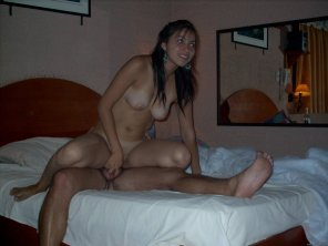 amateur photo nice brunette rides cock