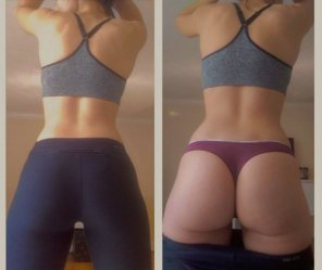 amateur photo In and out of my yoga pants.