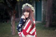 amateur photo American flag clothe