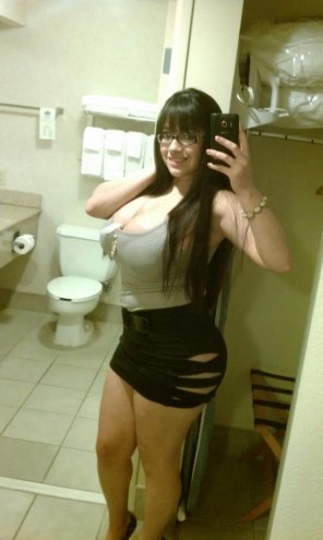 amateur photo Bursting Out in the Bathroom