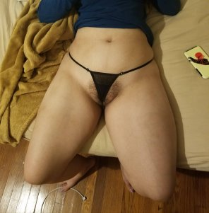 amateur photo Tiny Black Thong