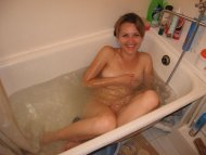 Embarrassed in the tub