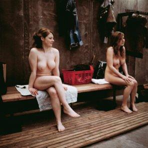 amateur photo In the sauna...