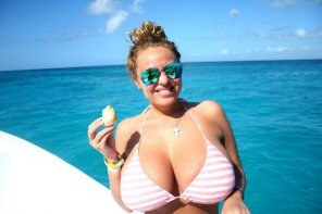amateur photo Now those are some big bikini titties