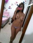 amateur photo Latina selfie