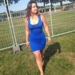 amateur photo In her new blue dress