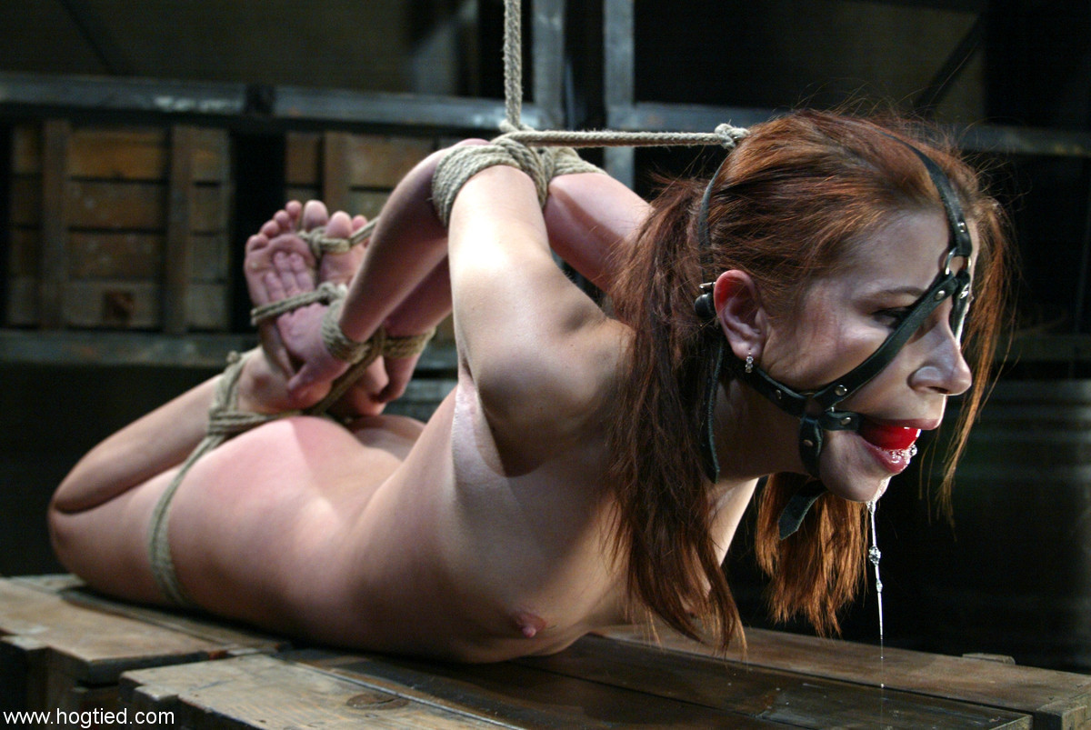 in gag bondage a with Dribbling
