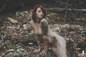 amateur photo Pale Tattooed Beauty