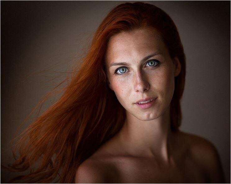 Red hair, blue eyes Porn Photo