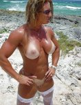 amateur photo Fit girl with tanlines