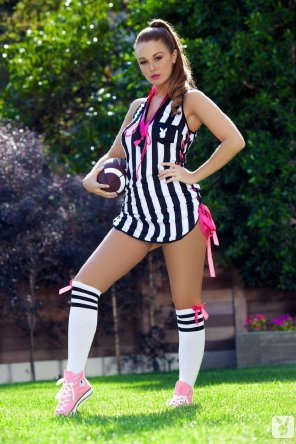 amateur photo Leanna Decker will be refereeing the game on Sunday