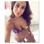 amateur photo Colorful bikini
