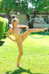 amateur photo aurilee summers playing outside with a hula hoop