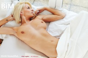 amateur photo Rhian Sugden in bed