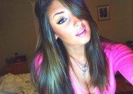 Pink top.