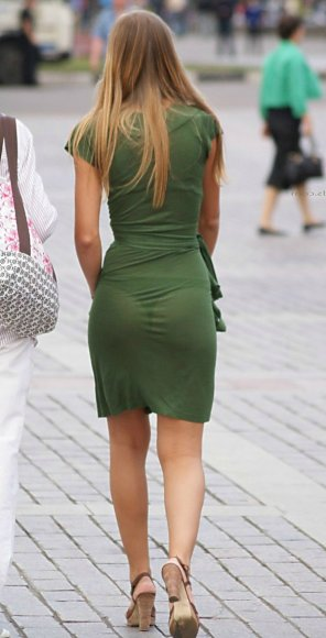 amateur photo Green Dress