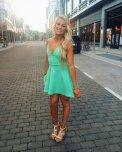 amateur photo Mint Green Dress