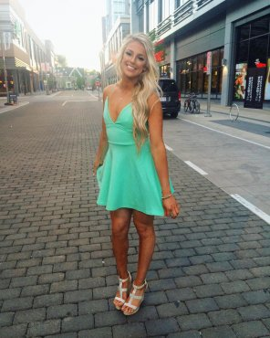 amateur photo Mint Green Dress
