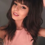 amateur photo Cute girl with bangs
