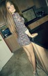 amateur photo Pretty girl in a floral dress